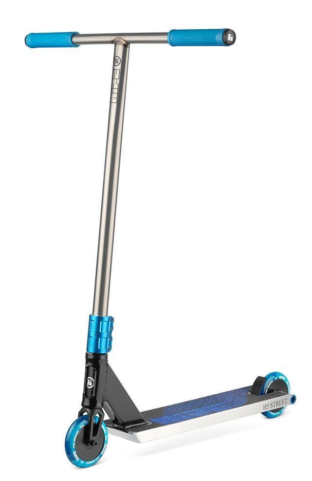 Трюковый самокат Hipe H5 Raw-Blue