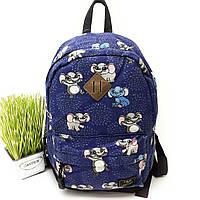 М'який рюкзак для дівчаток текстильний Арт.3033 Leadhake (Китай)