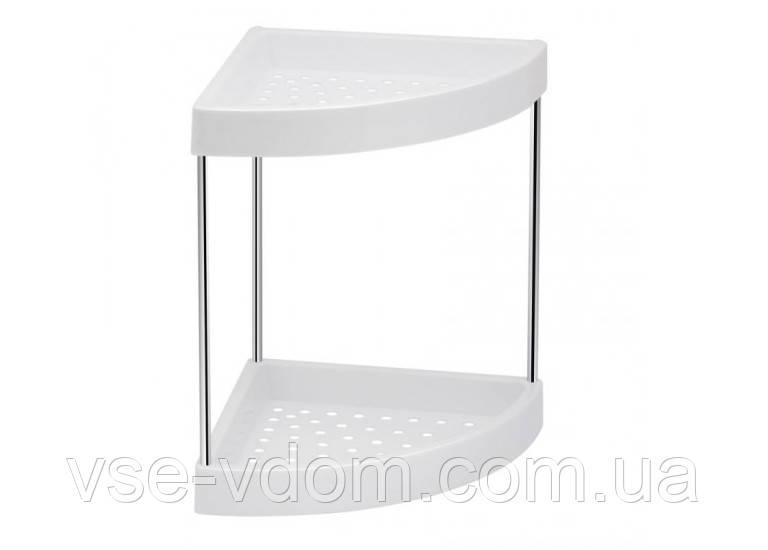 Пластиковая угловая полка для ванной душа Lidz