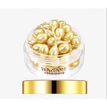 Сыворотка для лица и кожи вокруг глаз в капсулах VENZEN Bright Collagen, с олигопептидами и витамином Е, 30 мл