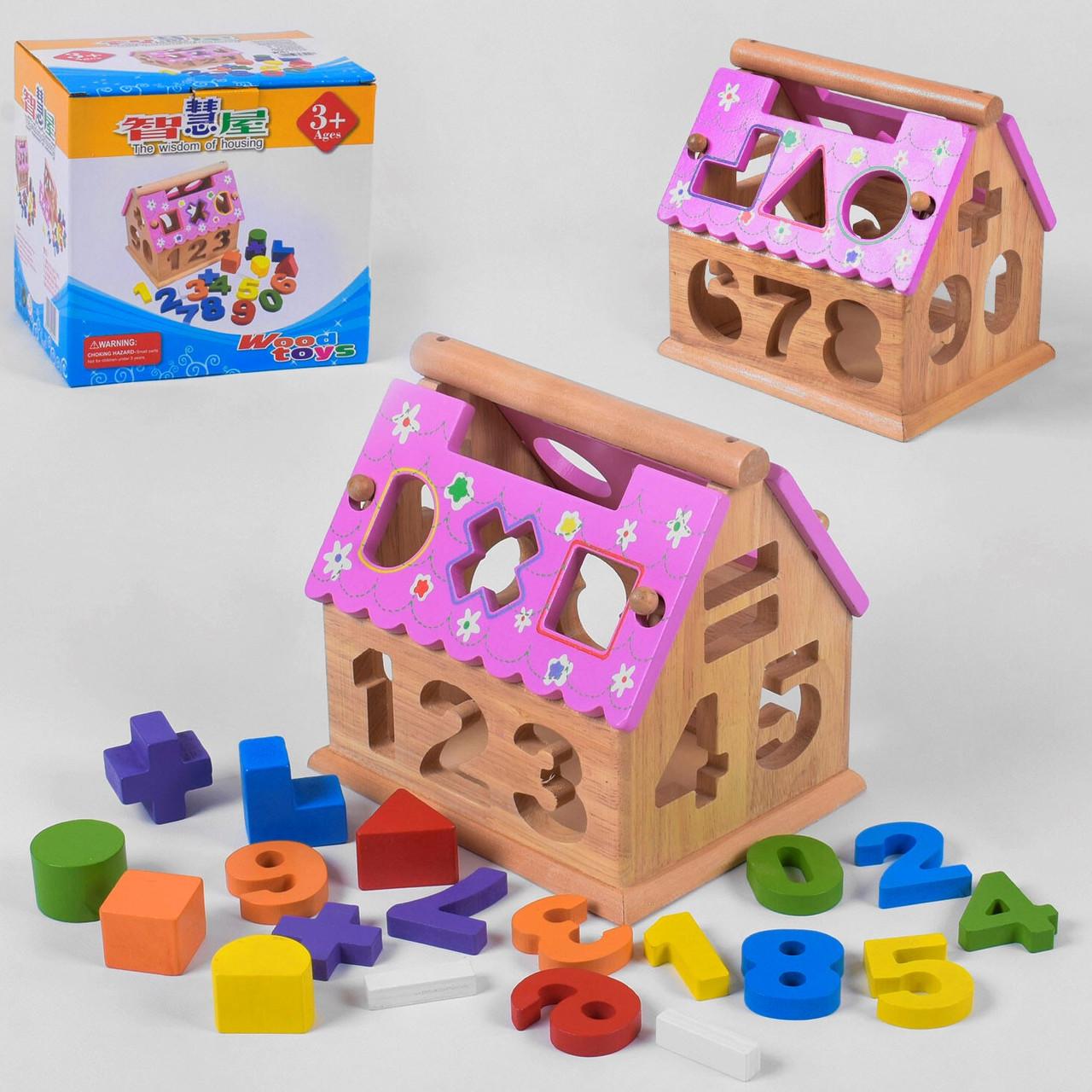 Дерев'яний Будиночок-Сортер, інтерактивна іграшка З 39349
