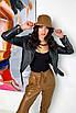 Женская черная куртка косуха из матовой эко кожи, фото 4