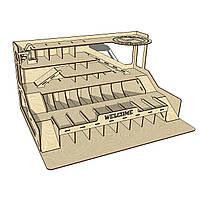 Конструктор многоуровневый атопаркинг-гараж «WELCOME» для машинок HotWheels (PR12313)