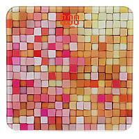 Весы напольные стеклянные (квадратные) на 180 кг Domotec MS-2019 Кубики (5381)
