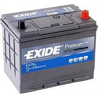 Аккумулятор 75Ah-12v Exide PREMIUM EA754 (272х170х225),R,EN630,Азия