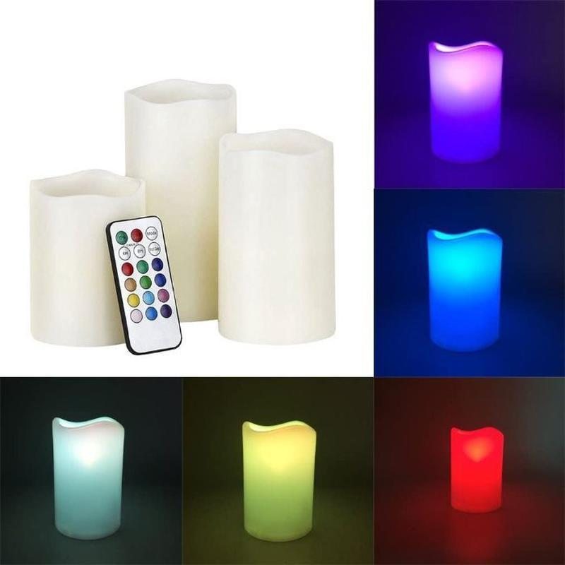 Світлодіодні свічки з імітацією полум'я