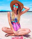 Жіночий злитий купальник з пальмами, фото 5