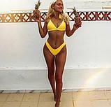 Женский раздельный желтый купальник, фото 8