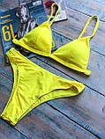 Женский раздельный желтый купальник, фото 10