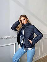 Женская демисезонная стеганная куртка на кнопках