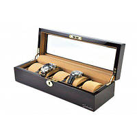 Шкатулка для зберігання 5 годин дерев'яна Salvadore WB/3081/EK