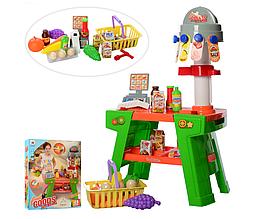 Игровой детский набор Магазин W055, кассовый аппарат, сканер, продукты