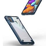 Чехол для Samsung Galaxy A21s Ringke Fusion X цвет SPACE BLUE (космический синий), фото 4