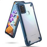 Чехол для Samsung Galaxy A21s Ringke Fusion X цвет SPACE BLUE (космический синий), фото 8