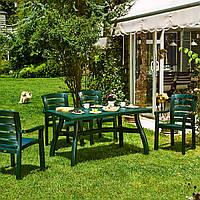 Комплект пластиковой садовой мебели (Стол 80*140 см + 4 стула) Irak Plastik, Турция