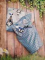 Конверт  - одеяло с плюшем  на выписку  и для прогулок, фото 1