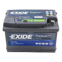 Аккумулятор 72Ah-12v Exide PREMIUM EA722 (278х175х175),R,EN720