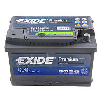 Аккумулятор 72Ah-12v Exide PREMIUM EA722 (278х175х175),R,EN720, фото 1