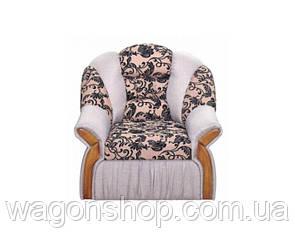 Кресло Вест тм Алис-мебель Серый с бежевым с узором
