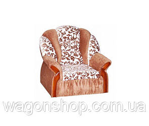Кресло - кровать Вест тм Алис-мебель Коричневый с узором на белом