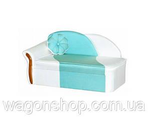 Дитячий диван Дельфін тм Аліс - меблі Білий з берюзой