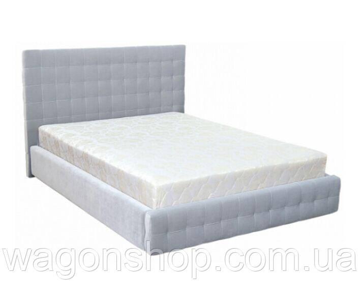 Ліжко Лаунж № 1 трикотаж/160 см тм Аліс-меблі Світло сірий