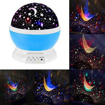 Нічник-проектор Зоряне небо Star Master Dream rotating projection lamp