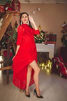 Женское шикарное вечернее гипюровое платье с пятью юбками