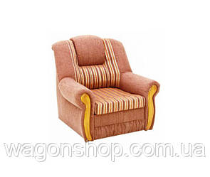 Кресло - кровать Клинтон тм Алис-мебель Коричневый с полоской