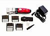 Профессиональная аккумуляторная машинка для стрижки Geemy Gm-6001, red
