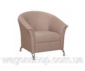 Кресло Комби 1 тм Алис-мебель Темный беж