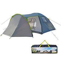 Палатка четырехместная двухслойная с тамбуром и тентом Green Camp 1009-2 с двумя входами