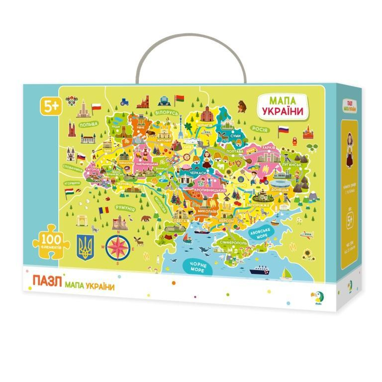 300109 Пазл Мапа України