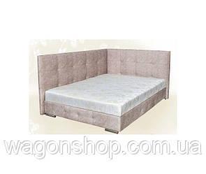 Ліжко Мега трикотаж з 2-ма спинками тм Аліс-меблі 160х200 см