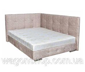 Ліжко Мега трикотаж з 2-ма спинками тм Аліс-меблі 180х200 см