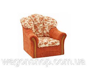 Кресло - кровать Алиса тм Алис-мебель Оранжевый с узором