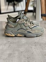 Мужские кроссовки Adidas OZWEEGO хаки / кроссовки Адидас Озвего (Топ реплика ААА+)