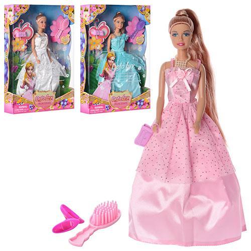 Кукла DEFA 8063  29,5см, аксессуары, 3 цвета, в кор-ке, 32,5-22-5,5см