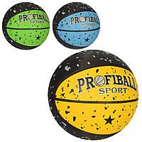 Мяч баскетбольный VA 0057 размер7, резина, 12панелей, 3цвета, 580-600г, в кульке