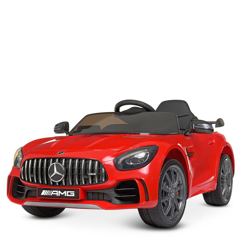 Машина M 4182EBLR-3 р/у2,4G, 2мот45W, 1аккум12V9AH, муз, світло, MP3, TF, USB,колEVA, шкір.,червон