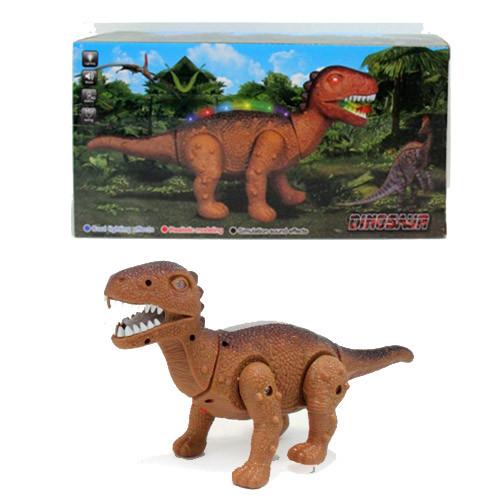 Динозавр 8868-1-2 30см, ходить, звук, світло, 2цвета, на бат-ке, в кор-ке, 30-15,5-10см