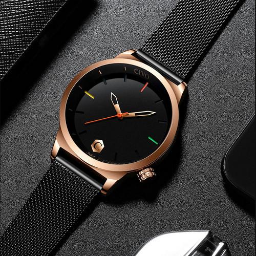 Чоловічі наручні годинники Chronte John Black-Cuprum