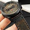 Чоловічі наручні годинники Curren 8314 Black-Brown, фото 3