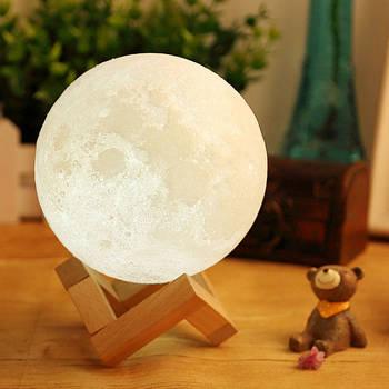 Лампа місяць 3D Moon Lamp Настільний світильник місяць на сенсорному управлінні