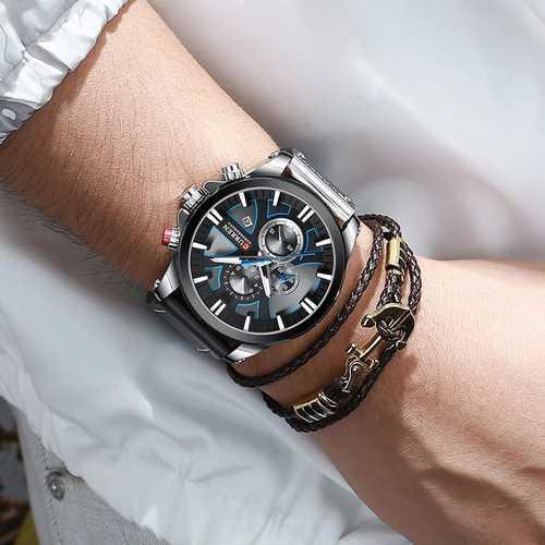 Часы наручные мужские Curren 8346 Silver-Black