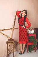 Женское коктейльное платье из кружевного гипюра
