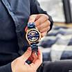 Чоловічі годинники з хронографом Curren 8360 Blue-Gold сині наручні, фото 4