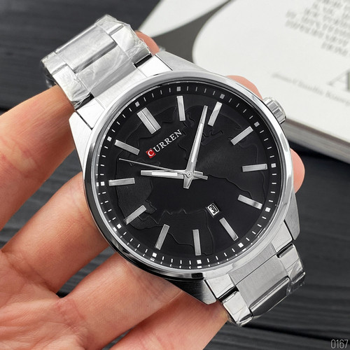 Наручні чоловічі годинники Curren 8366 Silver-Black