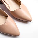 Жіночі бежеві шкіряні туфлі, фото 5