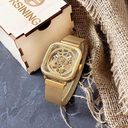 Часы наручные мужские Forsining 1148 All Gold